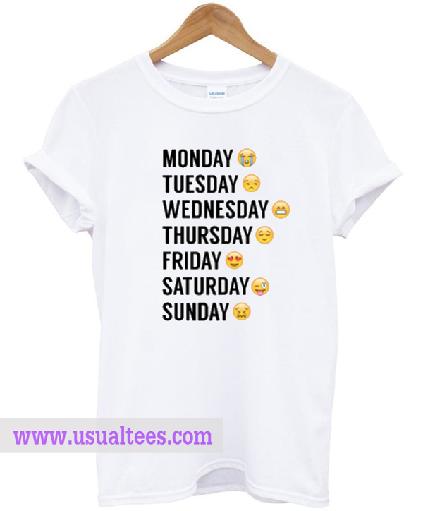 Emoji Days Of The Week T-shirt