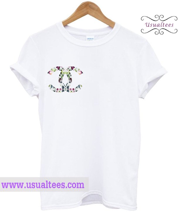 Chanel floral logo t shirt for Chanel logo t shirt to buy