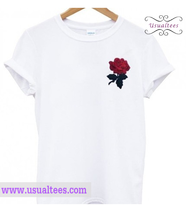 Pocket Rose T Shirt