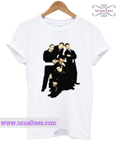 White Backstreet Boys Band T shirt