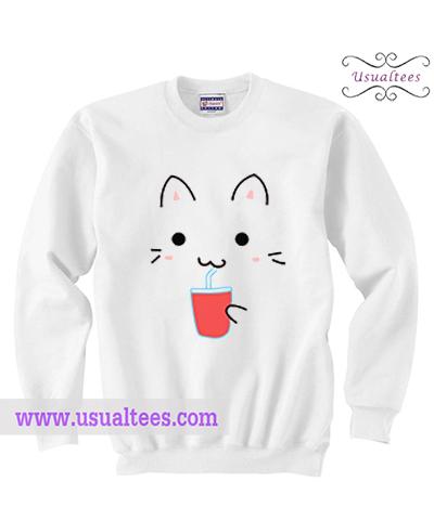 Cute Kawaii Cat Sweatshirt