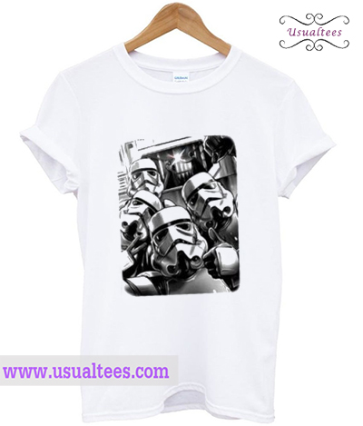Trooper Selfie Light Saber T-Shirt