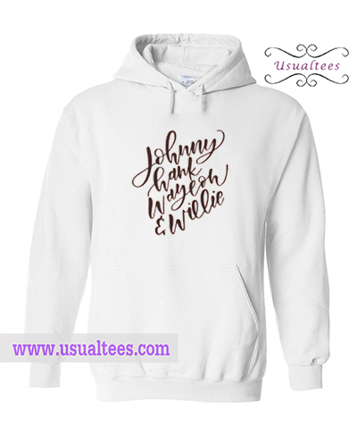 Johnny Cash Hank Willie Hoodie
