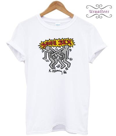 Harry Styles Keith Haring Safe Sex T-shirt